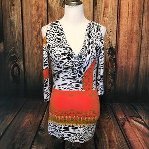 Lynn Ritchie animal print blouse